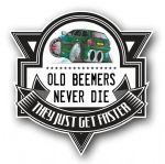 Koolart OLD BEEMERS NEVER DIE Motif For Retro BMW 5 Series Touring External Vinyl Car Sticker Decal Badge 100x100mm